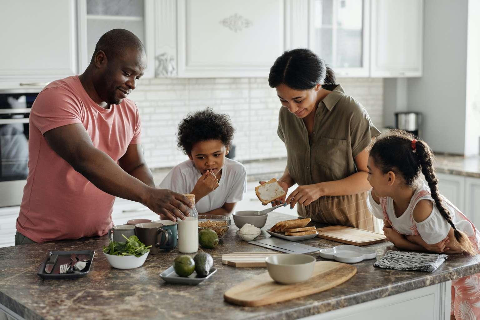 Family Enjoying a meal property tax loan